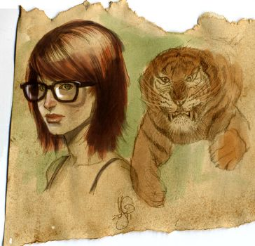 Another Girl and her Kitty by MicahJGunnell