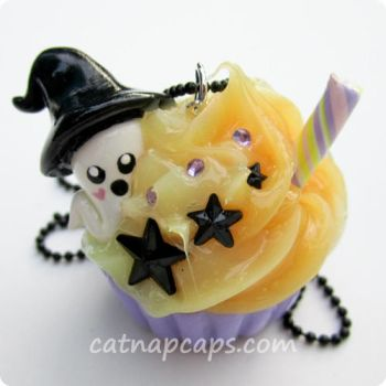 Spooky Witchy Ghost Necklace by CatNapCaps
