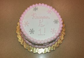 Baby Cake with Snowflakes by ayarel
