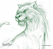 Old Lion by giaci78