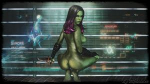 Guardians of the galaxy - sexy Gamora wallpaper by ethaclane
