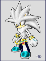 Silver the Hedgehog (Lineart Colour) by TheTinfoilRat