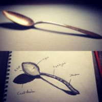 Shaded Spoon by AbbyCatWolff