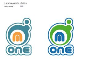 Dialog - m-one logo design by switchu