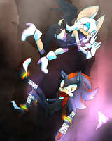 BOOM: Shadow and Rouge by kaze-no-shojo