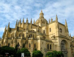 Segovia Cathedral, Spain by RowyeStock