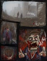 Zombie comic sketch by LandscapeRunner