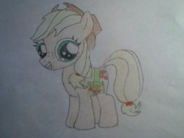 Applejack as a Filly Colored by Huntchu
