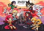 Let's Fight    RWBY vs JNPR by InvertedFool
