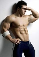 Gorgeous Muscle Man in Tights by Stonepiler