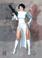 SW Leia by sugarsart