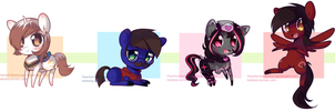 Chibi Pony set by pekou