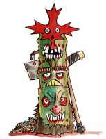Team Canadian Zombie Totem by BYRONvonREMPEL