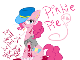 Gangsta Pinkie Pie by voidless-rogue