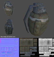 Low-Poly grenade by adijs
