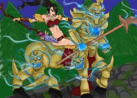 Nidalee and Hecarim Duo by mikeyjosh