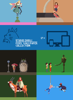 Ghibli Pixel Wallpaper Pack by scuzy