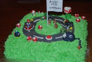 Mario Kart Cake by darklizard14