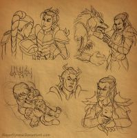 ESO Sketches by SlayerSyrena