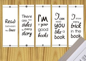 Printable Bookmarks by ClementineCreative