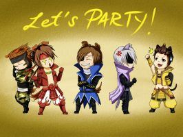 Basara puppy party by Ewuss