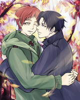 Autumn Love (Rivaere / Ereri) by sulkingmoon
