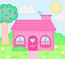 Pink little cottage by steffne