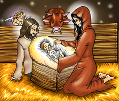 The child in the manger by JavaLeen