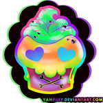 Skull Cupcake Lineart By Yampuff-d5bkdl1 by Dark0Childe