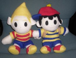 SSBB Earthbound plushes set by pandari