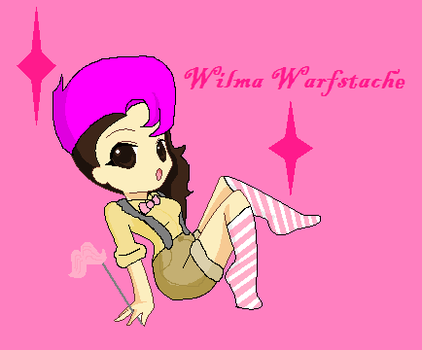Wilma Warfstache by bluemoonwarriorcat