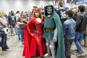 Dr. Doom and Scarlet Witch by RedMindlessFilms