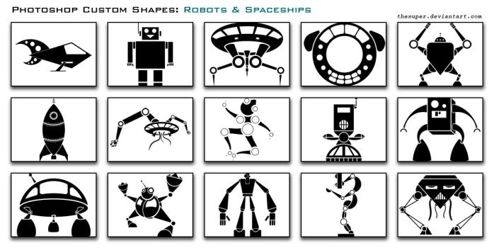 Robots and Spaceships by thesuper
