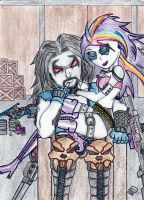 Heavy Metal Guns Rarity And Lobo by bobomomobobo