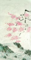 Sumi-e: Falling Blossoms Final by catherinejao