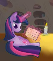 Twilight sparkle reading by tilitoom