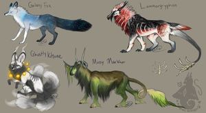 Adoptable Sheet 1 - CLOSED by animalartist16