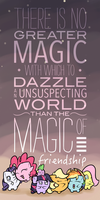 Magic of Friendship Poster by DoggonePony