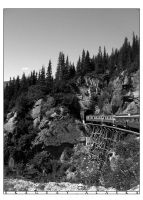 Alaskan Mountains and Train by princepoo