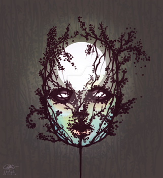 tree face moonshine by Itrebur