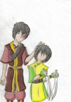 Sibling Toko and Swords by fayedove