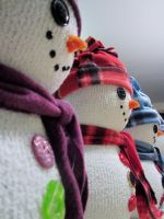 Snow Men Close Up by MyThoughtsAreDeep