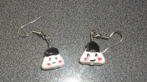 Onigiri Rice Balls Earrings by kratosisy