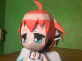 Chibi Ikaros Figurine Paper Model: Head View by MarcGo26