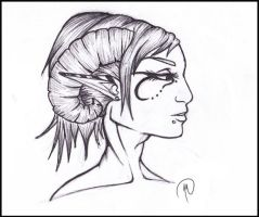 Character Concept Sketch by MelonieMac