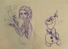 Frozen Restaurant Sheet by ArtsyMaria