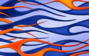 Flames orange blue widescreen by jbensch