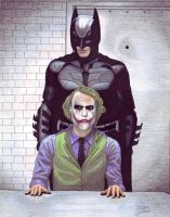 Batman and Joker by crystalunicorn83