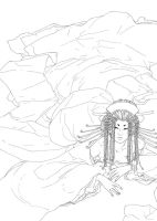 Oiran II - lineart by Asiulus
