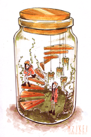 Gemini Jar by VooDooling